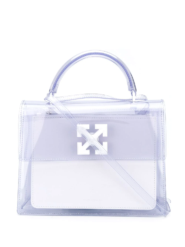 Off-white Arrows Print Satchel Bag In White