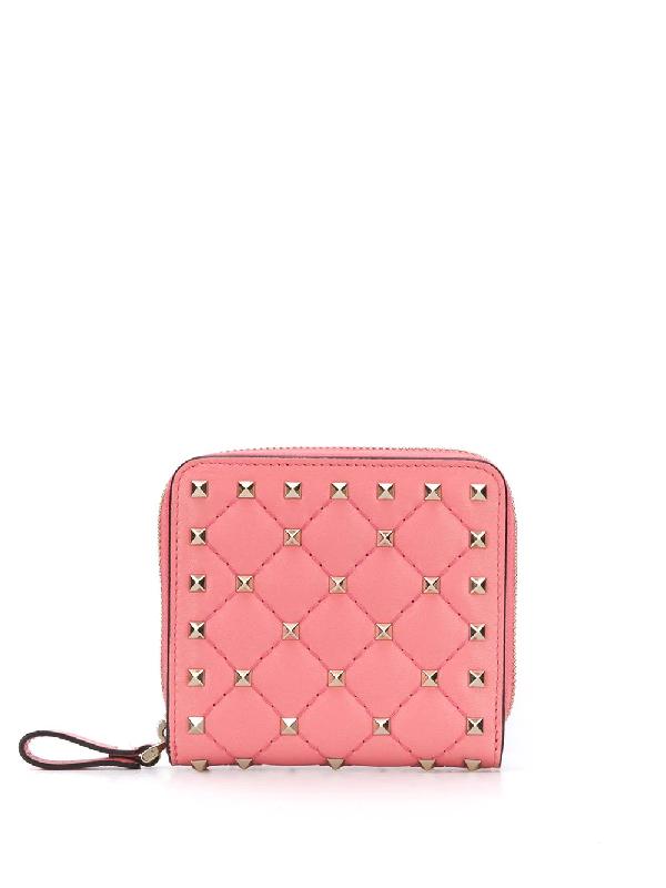 Valentino Garavani Rockstud Wallet In Pink