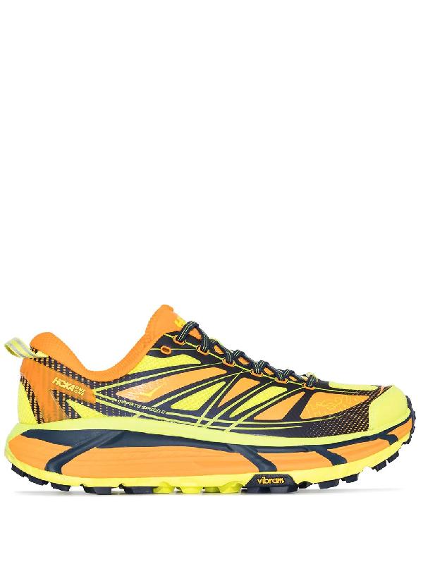 Hoka One One 'mafate Speed 2' Sneakers In Yellow