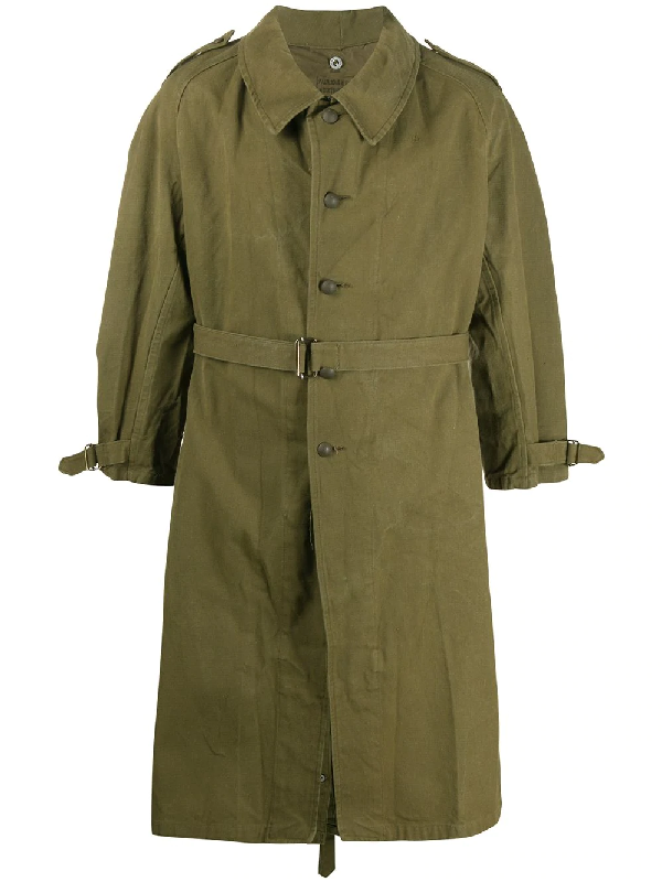 A.n.g.e.l.o. Vintage Cult 1950s Military Coat In Green