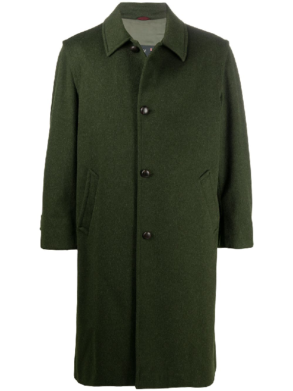 A.n.g.e.l.o. Vintage Cult 1990s Oversized Coat In Green