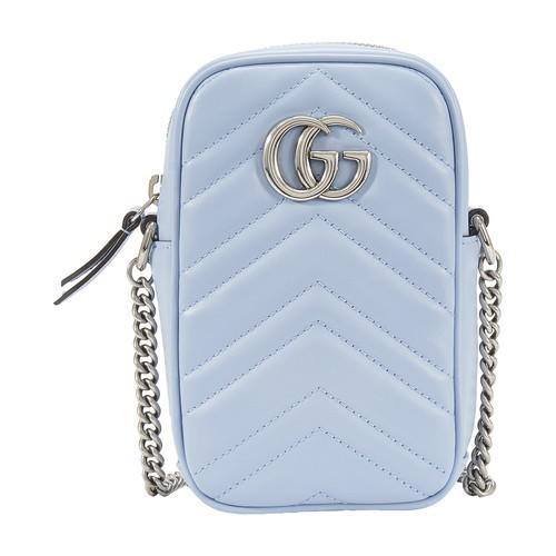Gucci Gg Marmont Mini Bag In Blue
