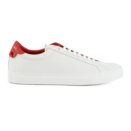 Givenchy Urban Street Low-top Leather Trainers In White/red