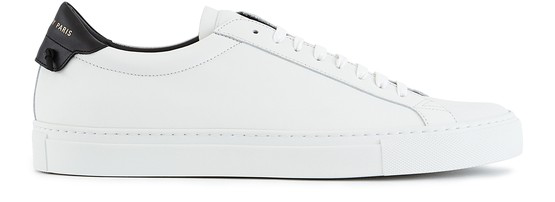 Givenchy Urban Street Two-tone Leather Sneakers In White