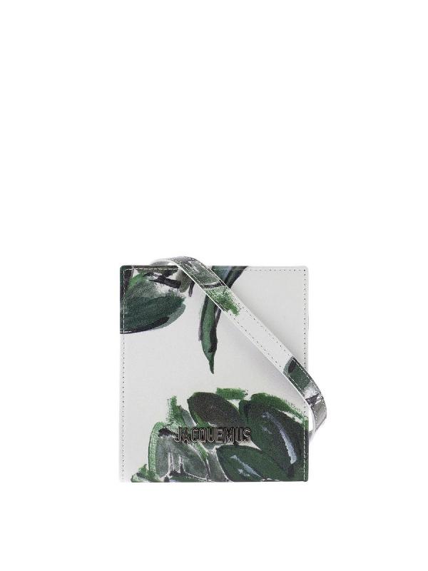 Jacquemus Le Gadjo Artichoke Print Wallet In White