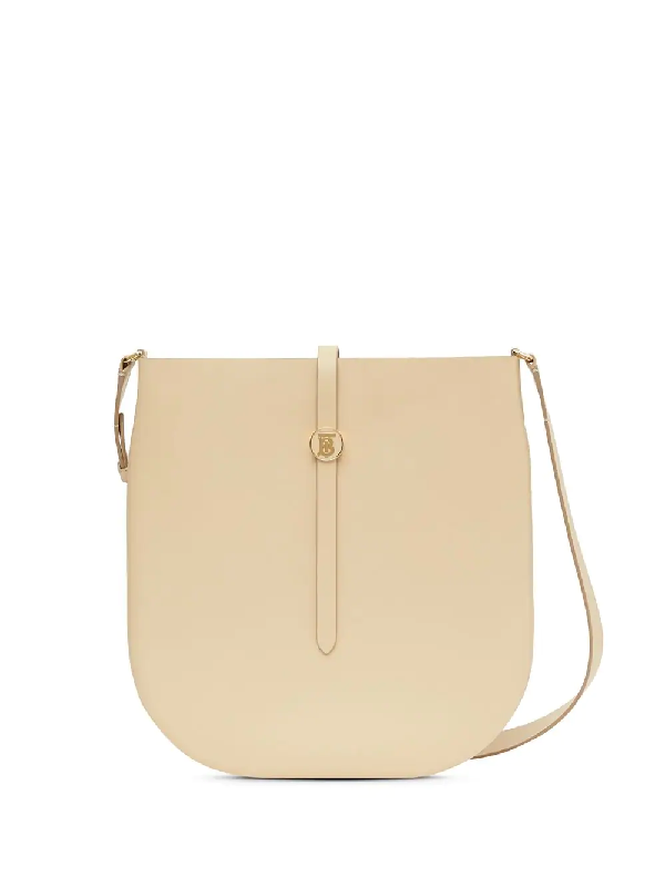 Burberry Annie Crossbody Saddle Bag In Nude
