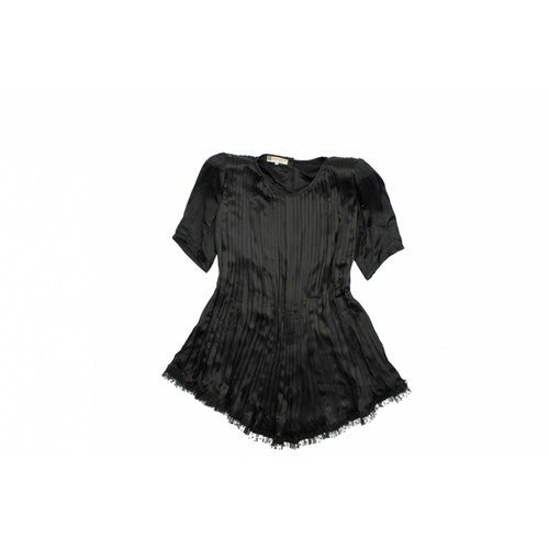 Pierre Balmain Black Silk Dress