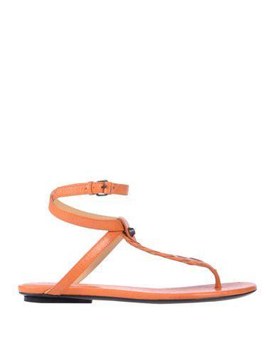 Balenciaga Flip Flops In Orange