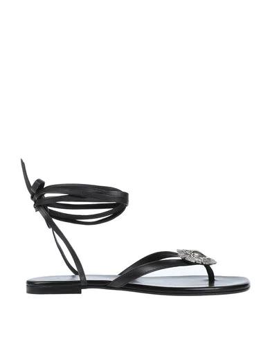Saint Laurent Flip Flops In Black