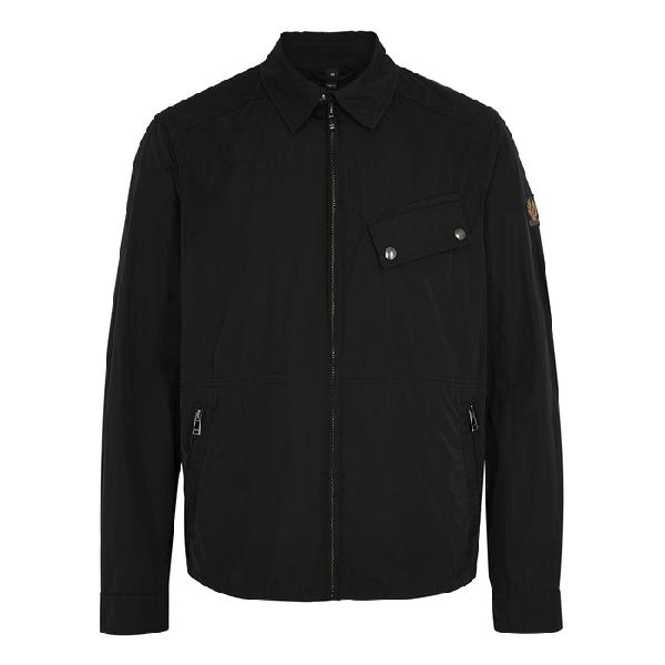Belstaff Camber Microfibre-shell Overshirt In Black