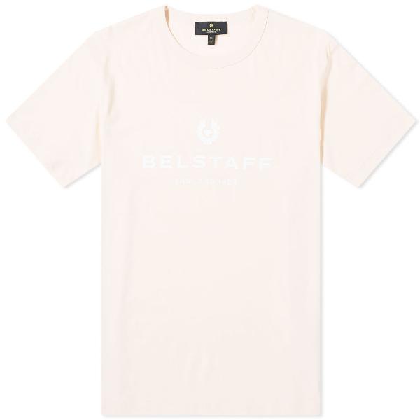 Belstaff Printed Logo Crest T-shirt In Pink