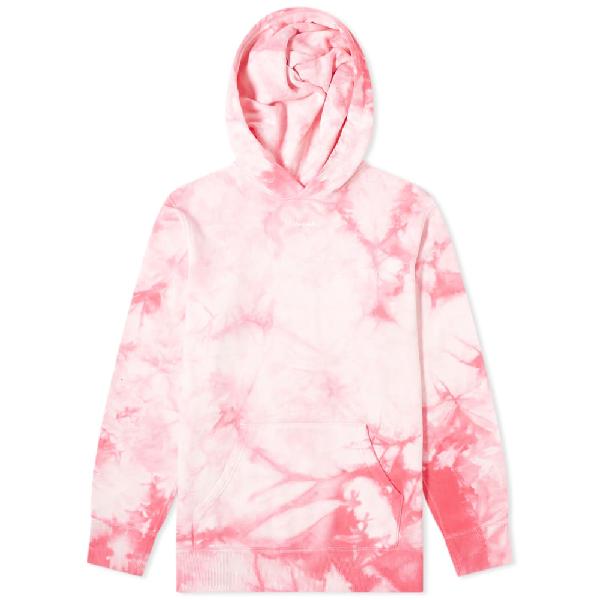 Vanquish Small Logo Tie-dye Hoody In Pink