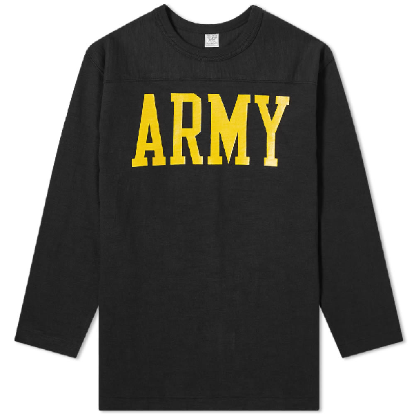 The Real Mccoys The Real Mccoy's Army Military Football Tee In Black