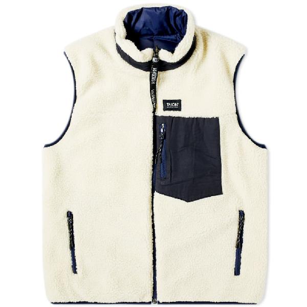 Vanquish Taion Reversible Fleece Vest In White