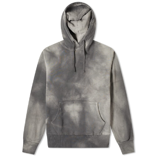 The Real Mccoys The Real Mccoy's Joe Mccoy Bleach Popover Hoody In Grey