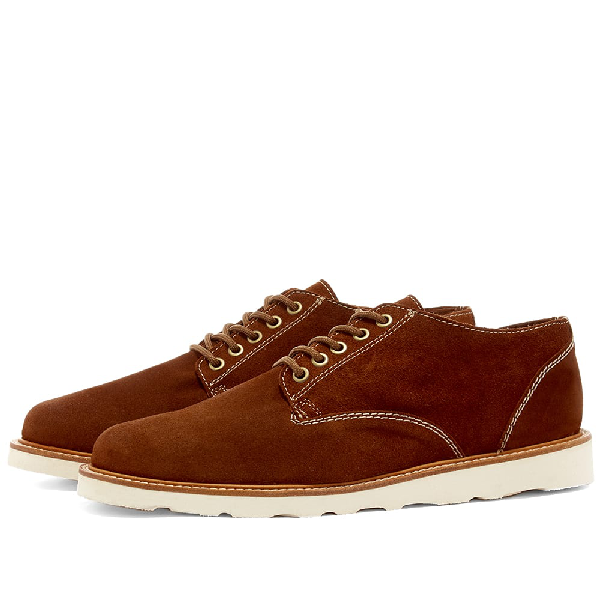 Wild Bunch Vibram Sole Classic 5 Eyelet Shoe In Brown
