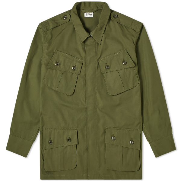 The Real Mccoys The Real Mccoy's Tropical Combat Coat In Green