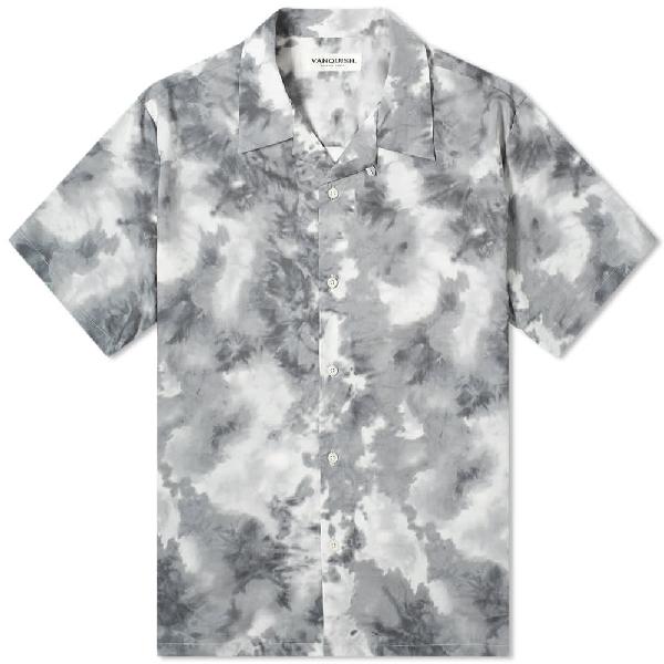 Vanquish Tie-dye Open Collar Shirt In Grey