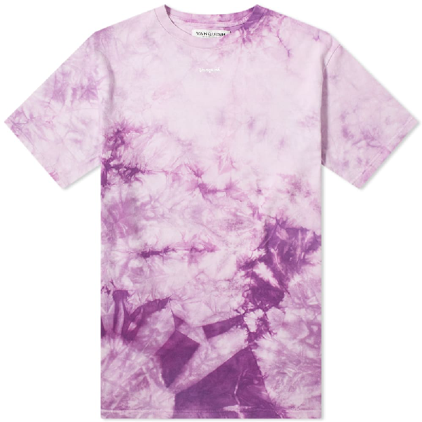 Vanquish Small Logo Tie-dye Tee In Purple