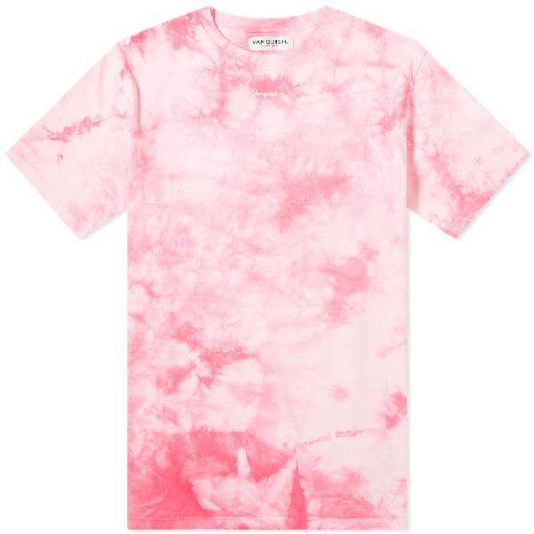Vanquish Small Logo Tie-dye Tee In Pink