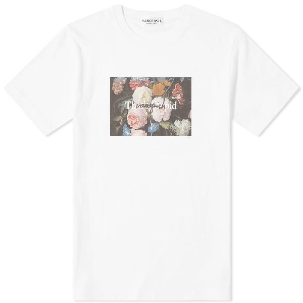 Vanquish Flower Photo Message Tee In White