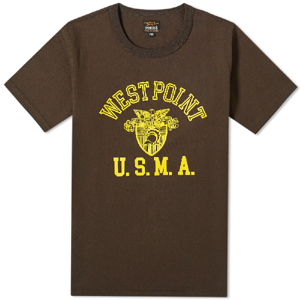 The Real Mccoys The Real Mccoy's West Point Military Tee In Grey
