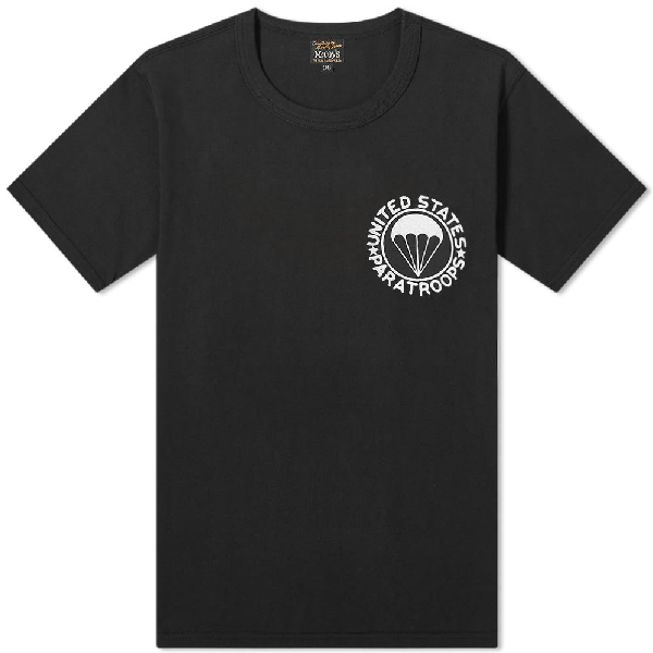 The Real Mccoys The Real Mccoy's United States Paratroopers Tee In Black