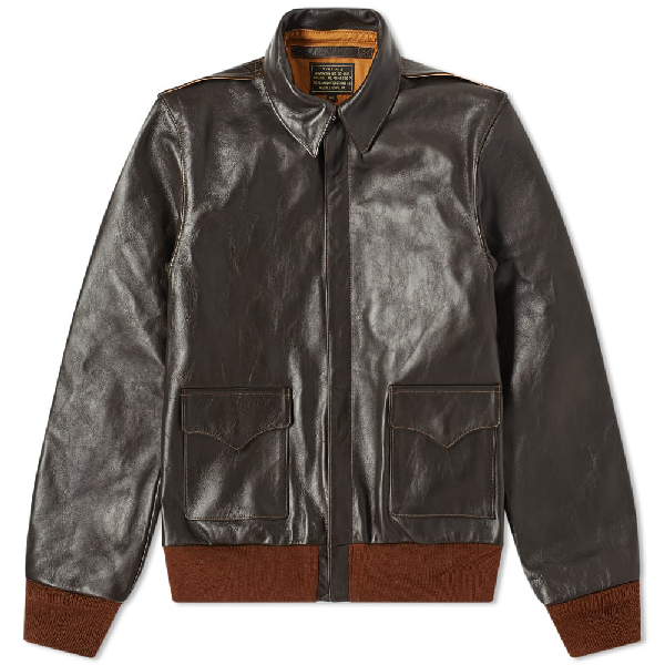 The Real Mccoys The Real Mccoy's Type A-2 Flight Jacket In Brown