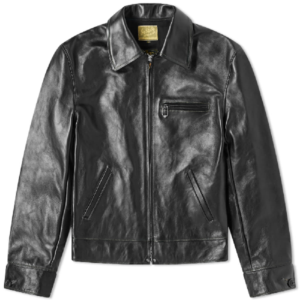 The Real Mccoys The Real Mccoy's 30s Leather Sports Jacket In Black