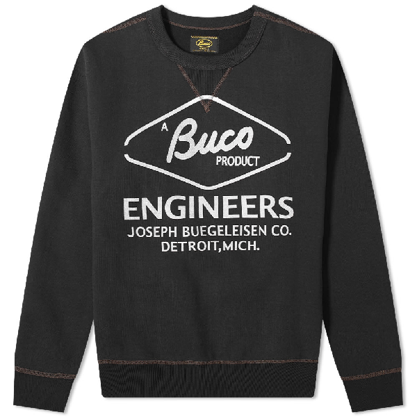 The Real Mccoys The Real Mccoy's Buco Engineer Crew Sweat In Black