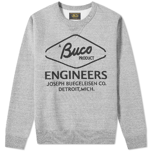 The Real Mccoys The Real Mccoy's Buco Engineer Crew Sweat In Grey