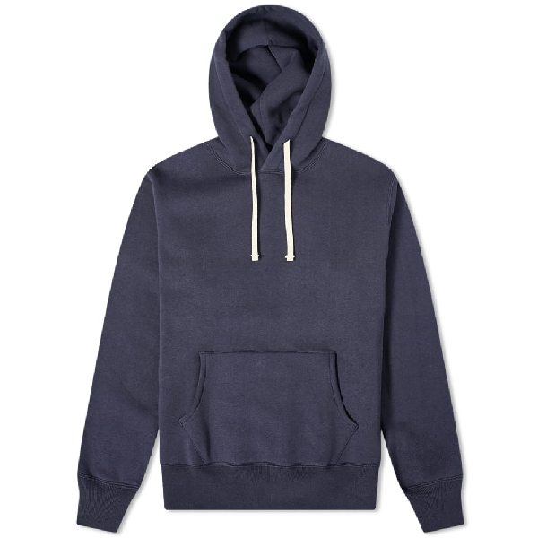 The Real Mccoys The Real Mccoy's 10oz Loopwheel Hoody In Blue