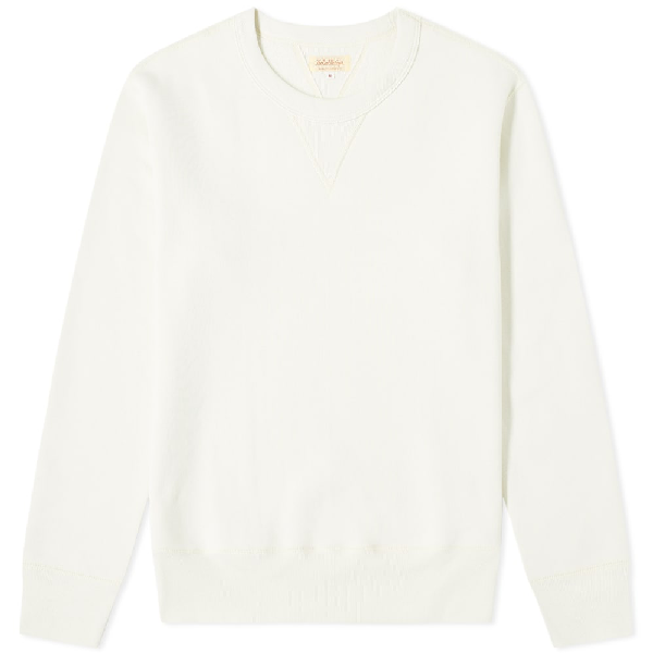 The Real Mccoys The Real Mccoy's 10oz Loopwheel Crew Sweat In White