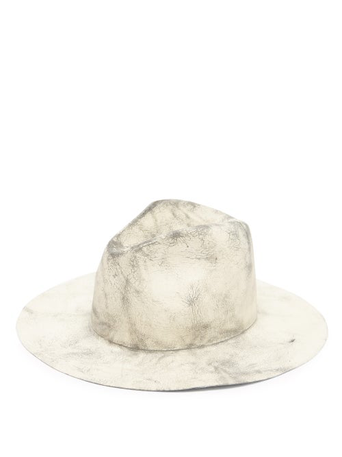 Reinhard Plank Hats Norma Felt Fedora Hat In Grey Multi