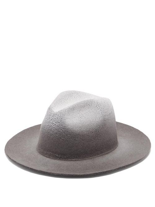 Reinhard Plank Hats Recycled-felt Fedora Hat In Black Multi