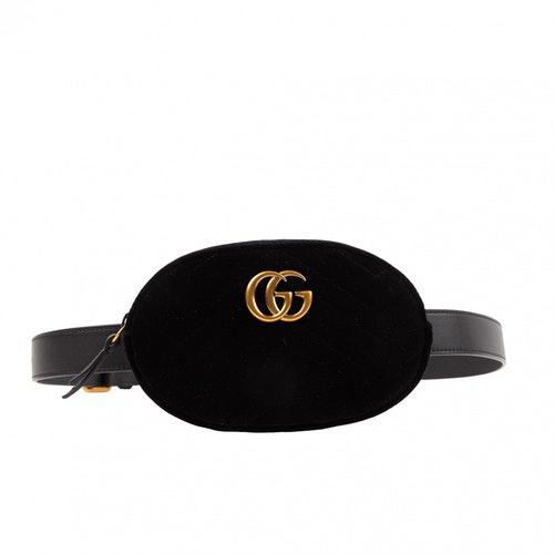 Gucci Marmont Black Velvet Handbag