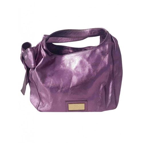 Valentino Garavani Purple Leather Handbag