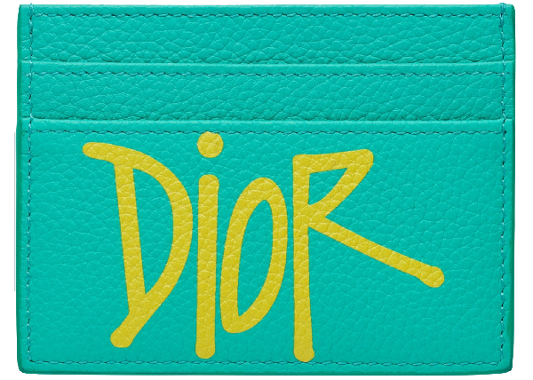 Dior And Shawn Card Holder (4 Card Slot) Green/yellow