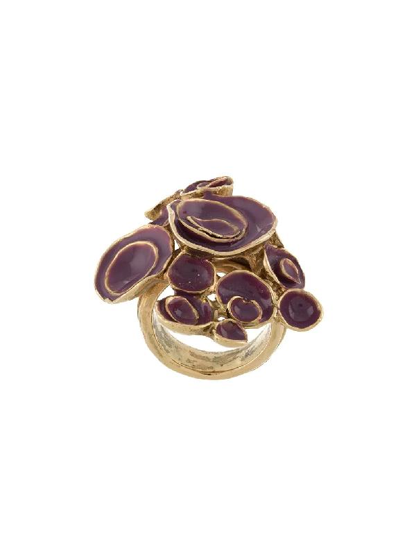 Saint Laurent 2000 Arty Ring In Purple