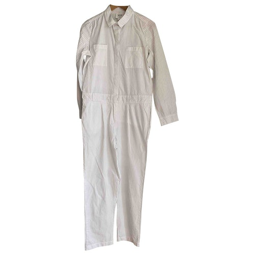 Swildens White Cotton Jumpsuit