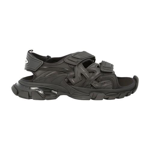 Balenciaga Track Neoprene And Rubber Sandals In Black