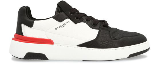 Givenchy Low-top Sneakers Wing Low Calfskin Logo Black White Red