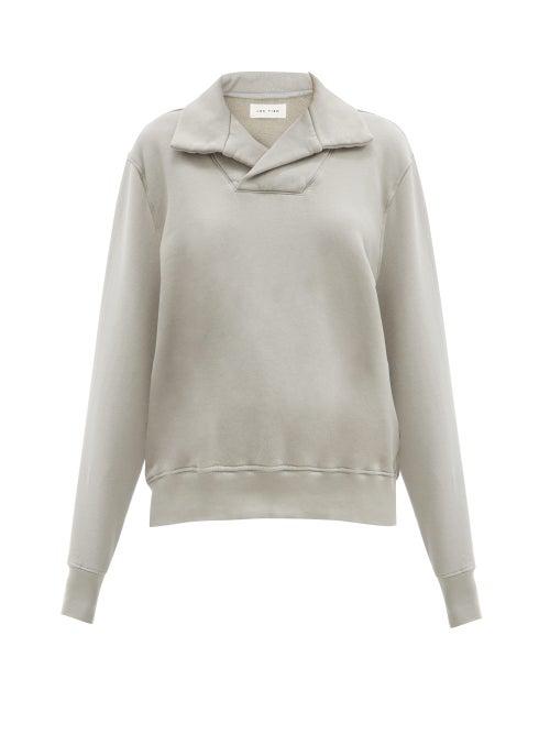 Les Tien Yacht Brushed-back Cotton Sweatshirt In Light Grey