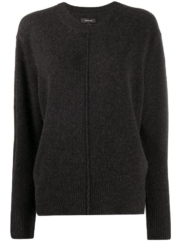 Isabel Marant Knitted Jumper In Black
