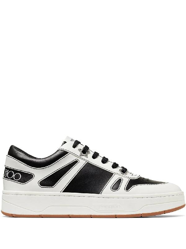 Jimmy Choo Hawaii Low-top Sneakers In Black