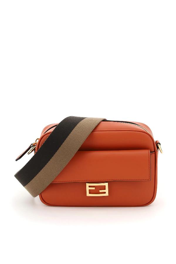 Fendi Baguette Camera Bag In Orange