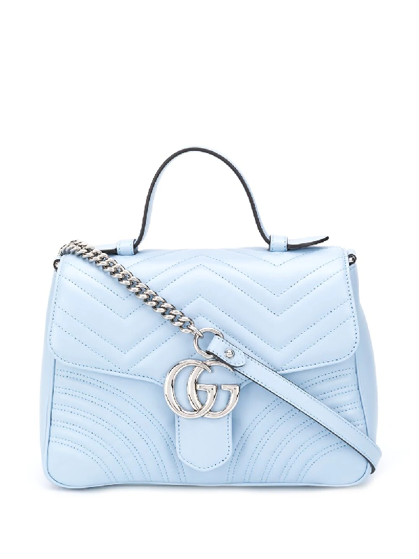 Gucci Mini Gg Marmont Tote Bag In Blue