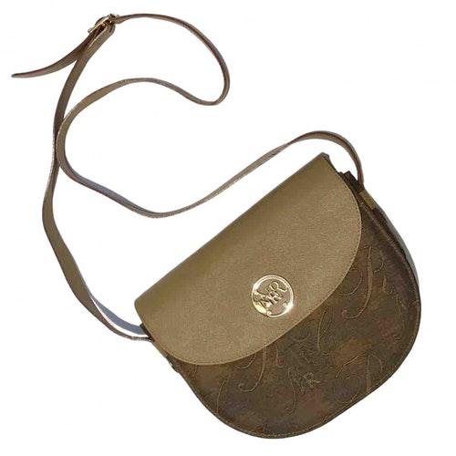 Nina Ricci Camel Cloth Handbag
