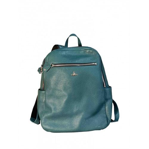 Vivienne Westwood Turquoise Leather Bag