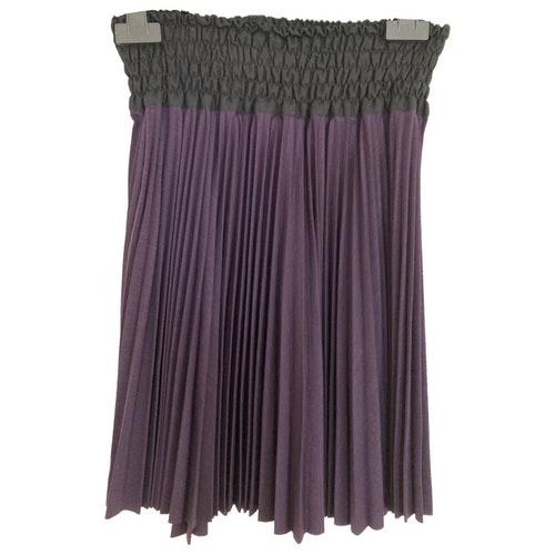 Roberto Capucci Purple Wool Skirt